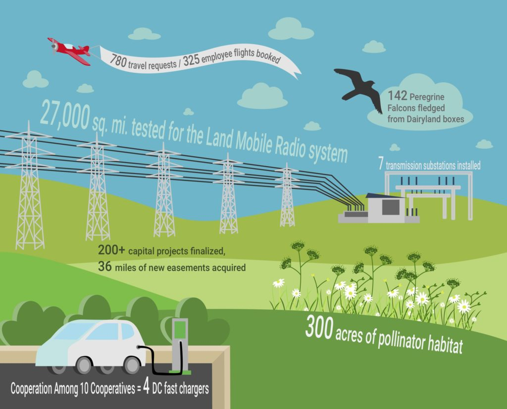 infographic for Dairyland Power